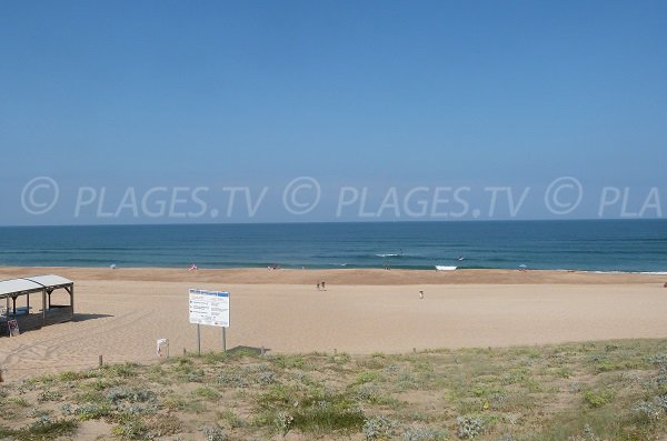 Naturist beach in Hossegor in France