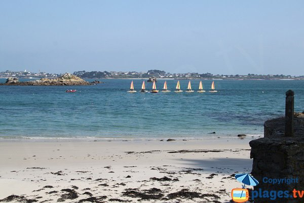 View on Roscoff from nudist beach