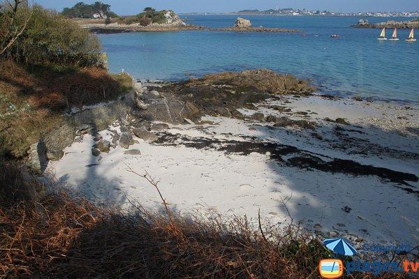 Naturist beach in Roscoff - France