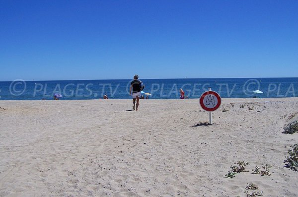 Nudist beach in Port-Leucate - Central area