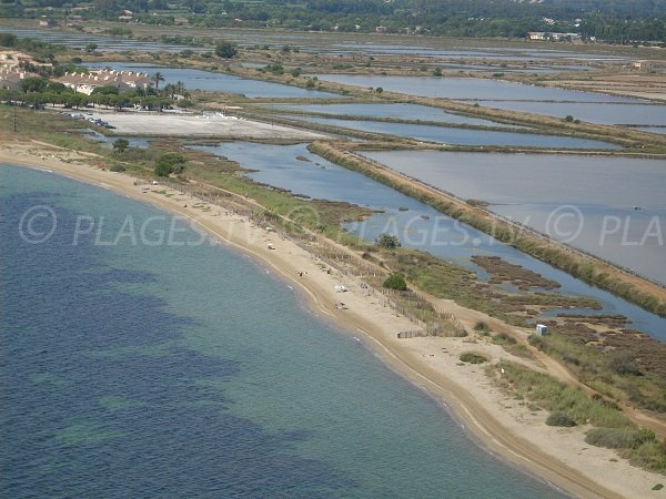 Naturist beach in Hyères - Les Salins