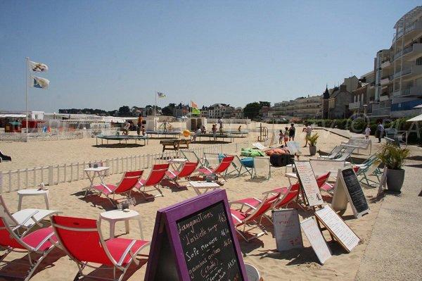 Restaurants sur la plage du Nau à Pouliguen