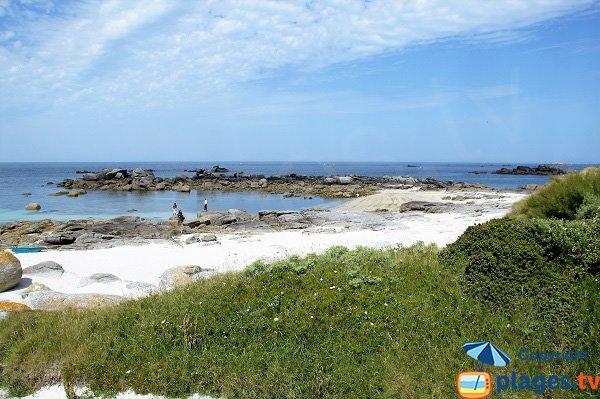Belle crique sur la presqu'île de Neiz Vran  en Bretagne