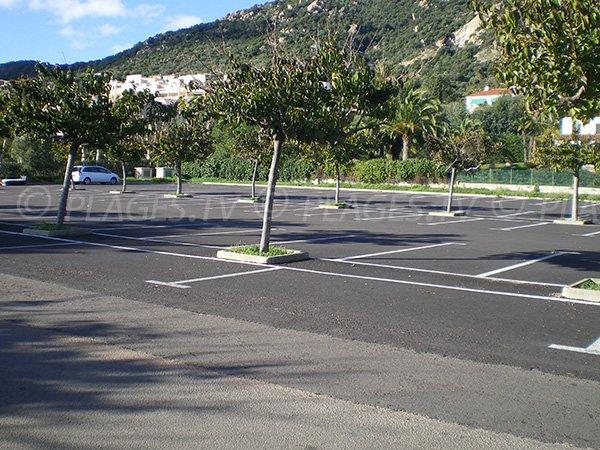 Parking pour la plage privée Neptune à Ajaccio