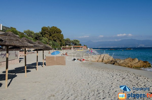 Private beach on the Neptune beach in Ajaccio - Corsica