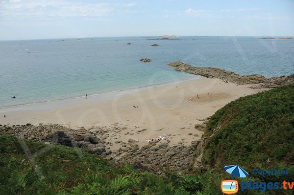 Nick cove in Saint-Lunaire in France