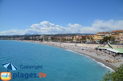 Beaches in Nice - France