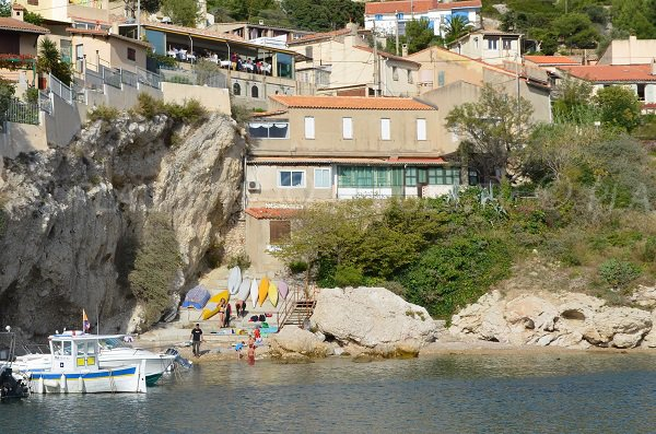 Niolon beach from the port