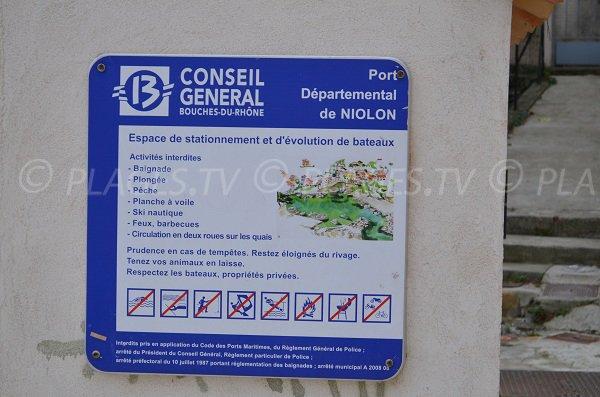 Baignade interdite à Niolon
