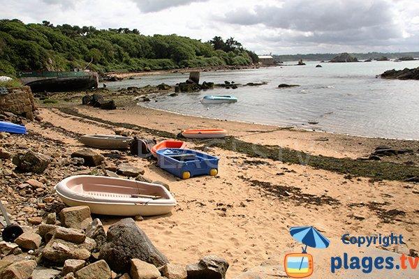 Photo de la plage de Nod Goven sur l'ile de Bréhat