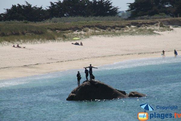 Rochers sur la plage de Nodeven Ruduloc - Kerlouan