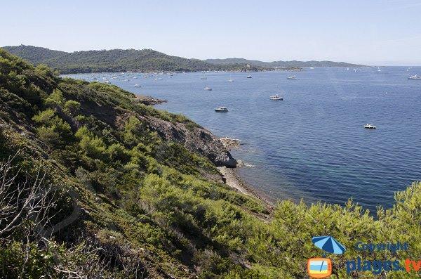 Photo de la plage Noire de Mèdes à Porquerolles