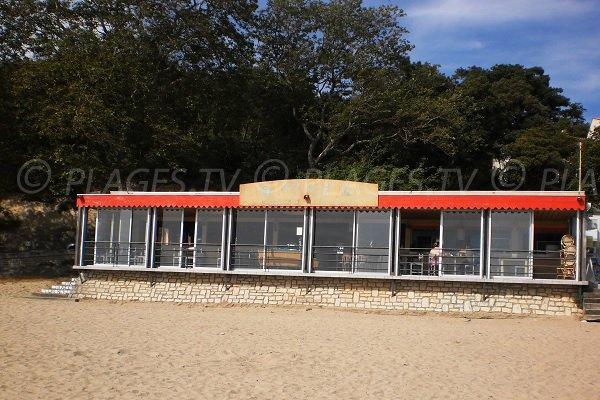 Restaurant sur la plage des Nonnes