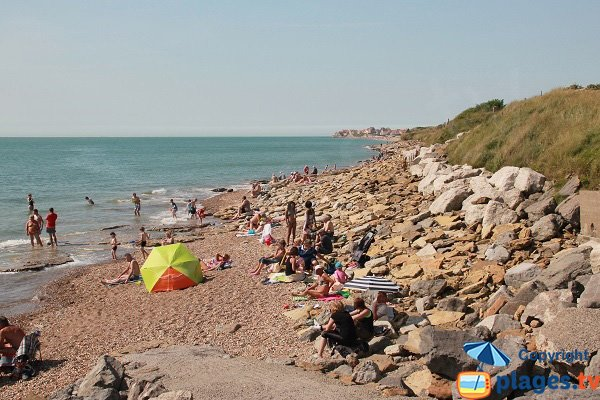 Beach in North of Ambleteuse - France