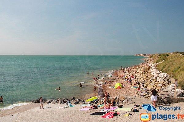 Photo de la plage nord d'Ambleteuse