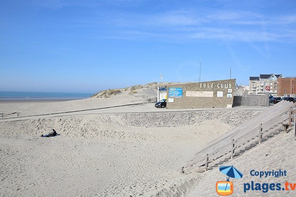 Access to the North beach of Berck