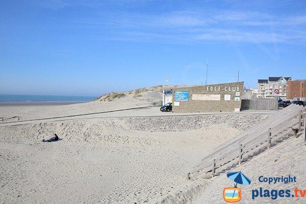 L'accesso alla spiaggia a nord di Berck