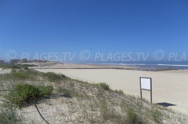 Plage Nord de la Corniche à Mimizan