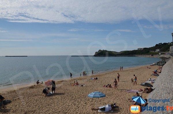 Photo de la plage Nord de la Digue aux Chevaux de Saint Jean de Luz