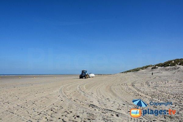 Dunes sur la plages nord de Fort Mahon