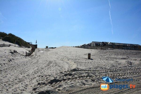 Environnement de la plage Nord de Fort Mahon au niveau de l'accès