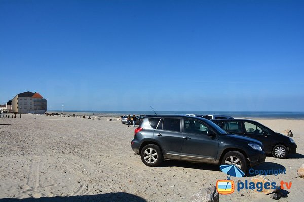 Parking gratuit de la plage nord de Fort Mahon