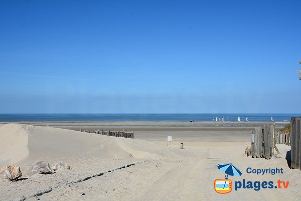 Photo of North beach in Fort Mahon in France