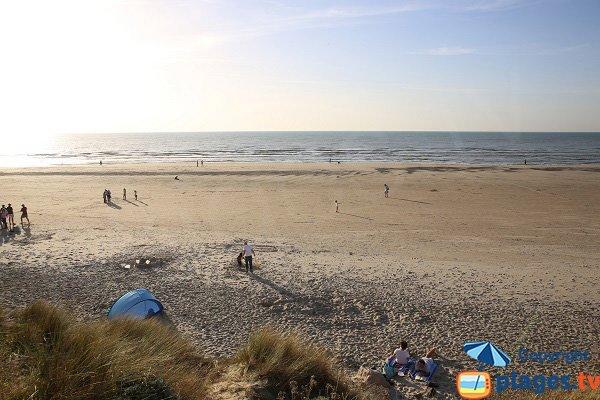 Spiaggia a nord di Hardelot in Francia