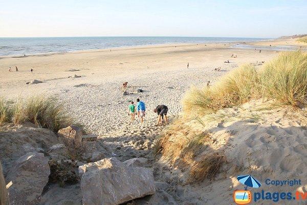 L'accesso alla spiaggia a nord di Hardelot