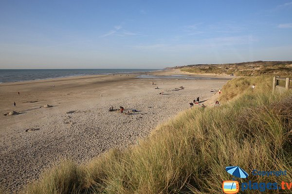 Photo de la plage nord d'Hardelot