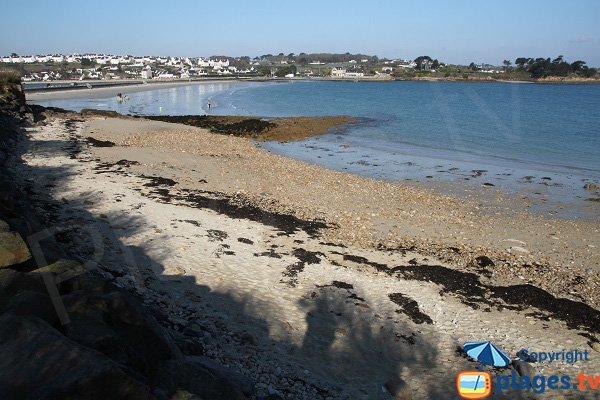 Vue sur la plage de Ste Anne depuis l'ilot