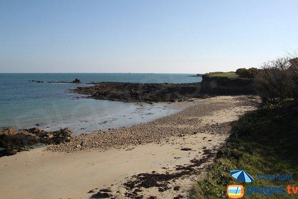Photo de la plage au nord de l'ilot de Ste Anne - St Pol de Léon