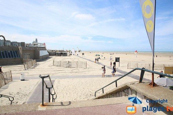 Photo de la plage Nord du Touquet en regardant vers la plage centrale