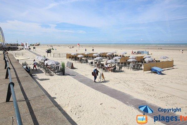 Restaurants sur la plage du Touquet proche Aqualud
