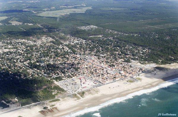 Photo de la plage Nord de Montalivet en avion
