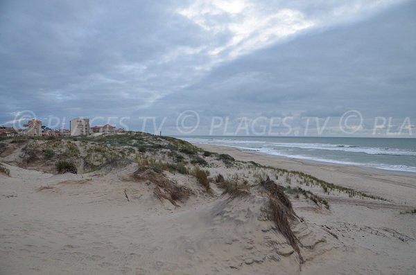 Plage Nord avec vue sur Soulac sur Mer