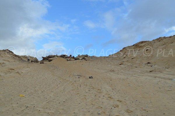 Accesso della spiaggia nord a Soustons