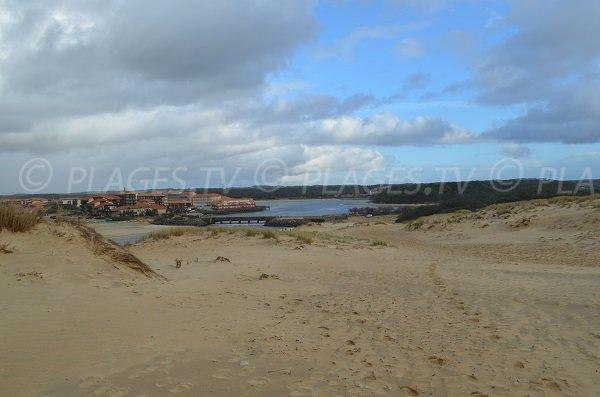 Vista Vieux Boucau e il lago di Port d'Albret dalla spiaggia di Soustons