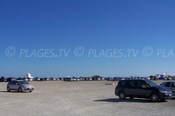 Parking pour la plage de St Pierre sur Mer - Zone nord