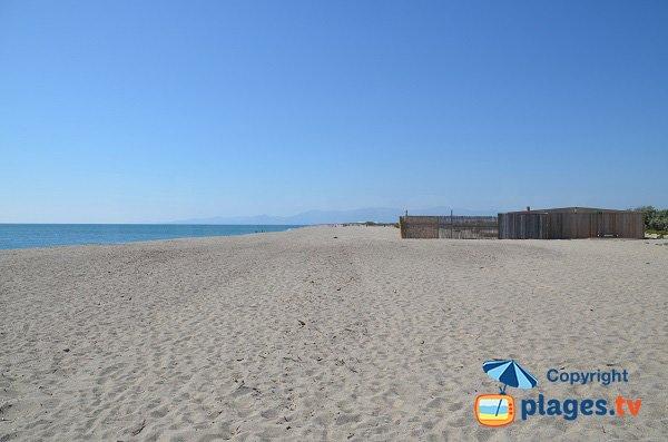 Nord beach of Torreilles - Ste Marie view
