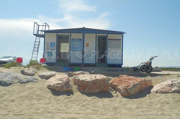 Poste de secours de la plage Nord de Torreilles