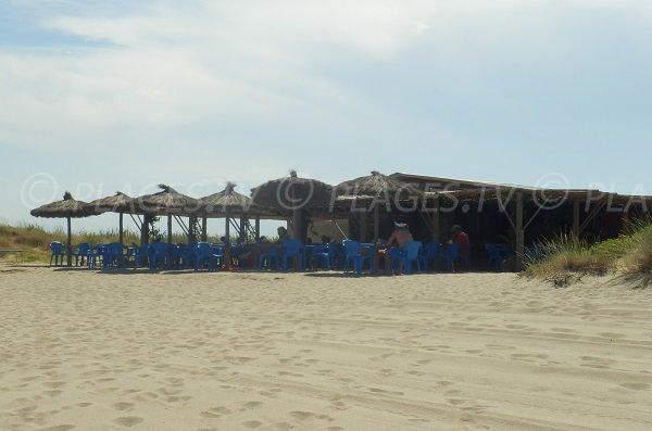 Restaurant on the Nord beach of Torreilles