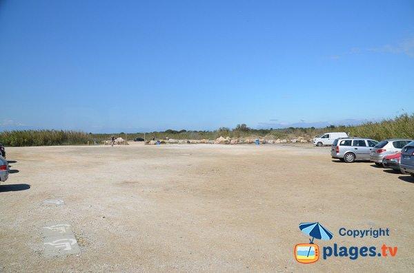 Parking of North beach in Torreilles