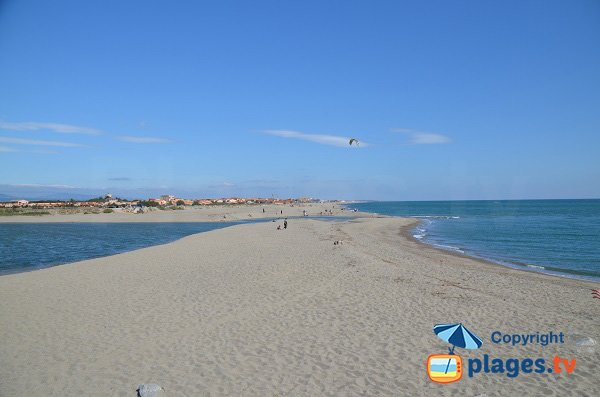 Photo of North beach of Torreilles and  Barcarès view