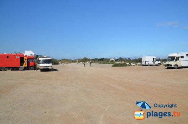 Parking of Torreilles beach