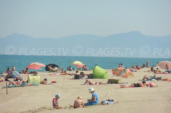 Nord beach in Torreilles in summer
