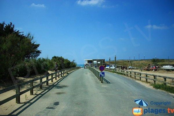 Chemin d'accès à la plage de la Normandelière