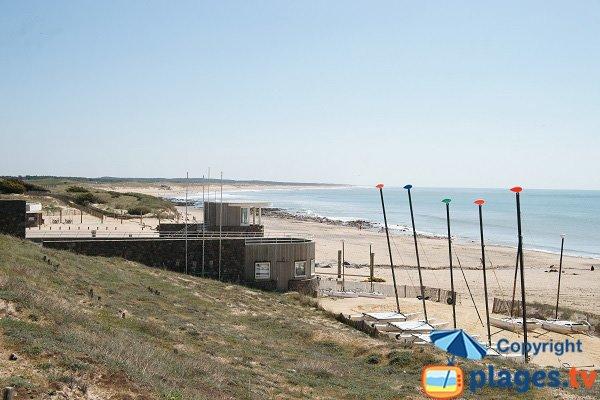 Photo de la plage de la Normandière à Bretignolles sur Mer