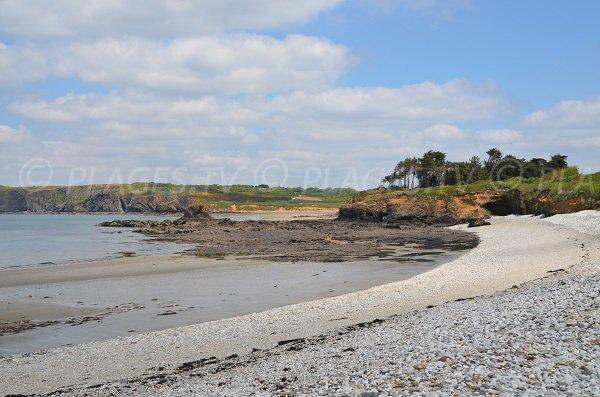 Confidential beach in Camaret sur Mer