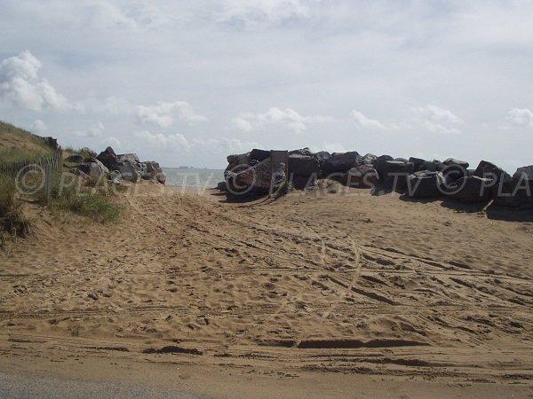 Accès à la plage de l'Oasis à l'Aiguillon sur Mer